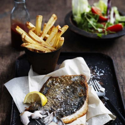 Sydney Fresh Seafood Recipe - Mirror Dory with Chips and Salad