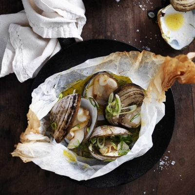 Sydney Fresh Seafood Recipe---Roasted-clams